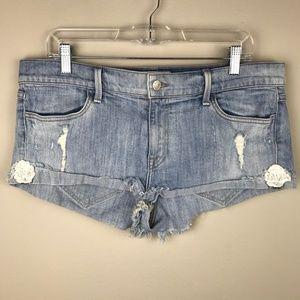 Wildfox Hello Legs Cutoff Denim Blue Jean Shorts